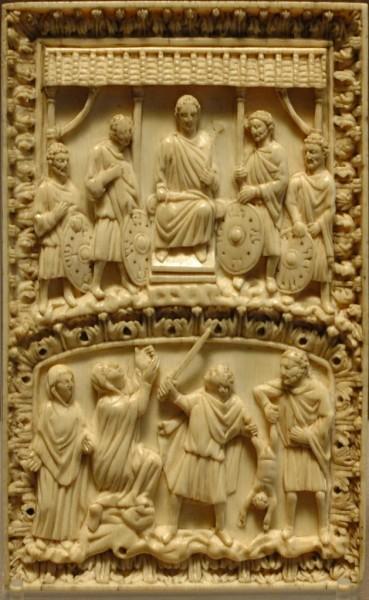 Пластинка из словой кости, Византия, 10-11 вв.