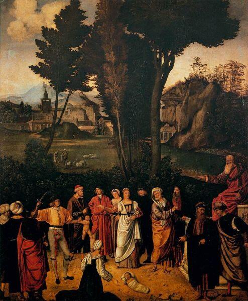 Джорджоне, «Суд Соломона», ок. 1505 г.