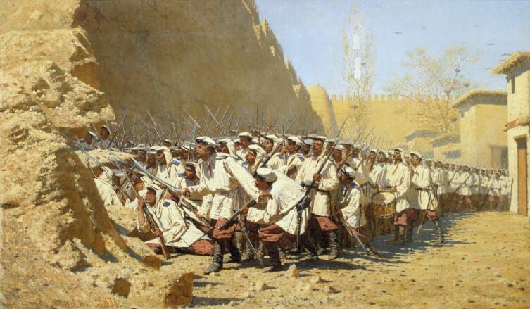 В. В. Верещагин, «У крепостной стены.