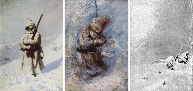 В. В. Верещагин, «На Шипке все спокойно», триптих, реконструкция, 1879 г.