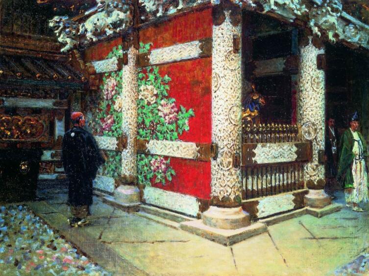 В. В. Верещагин, «Шинтоистский храм в Никко», 1904 г.