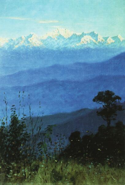В. В. Верещагин, «Гималаи вечером. Этюд », 1875 г.