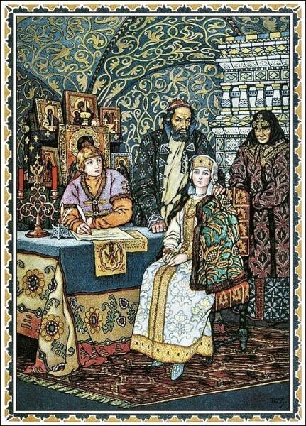 Б. В. Зворыкин, «Борис Годунов с семьёй. Иллюстрация к трагедии Пушкина