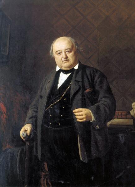 Н. В. Неврев, «Портрет М. С. Щепкина», 1862 г.