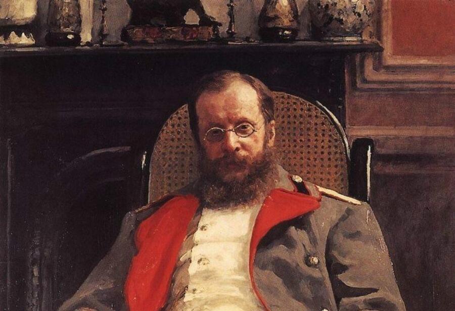 И. Е. Репин, «Цезарь Антонович Кюи» (фрагмент), 1890 г.