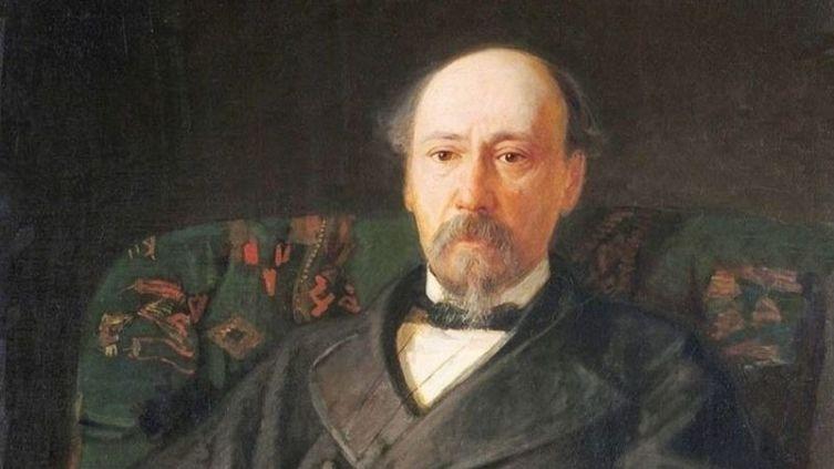 Николай Ге, «Портрет Н. А. Некрасова» (фрагмент), 1872 г.