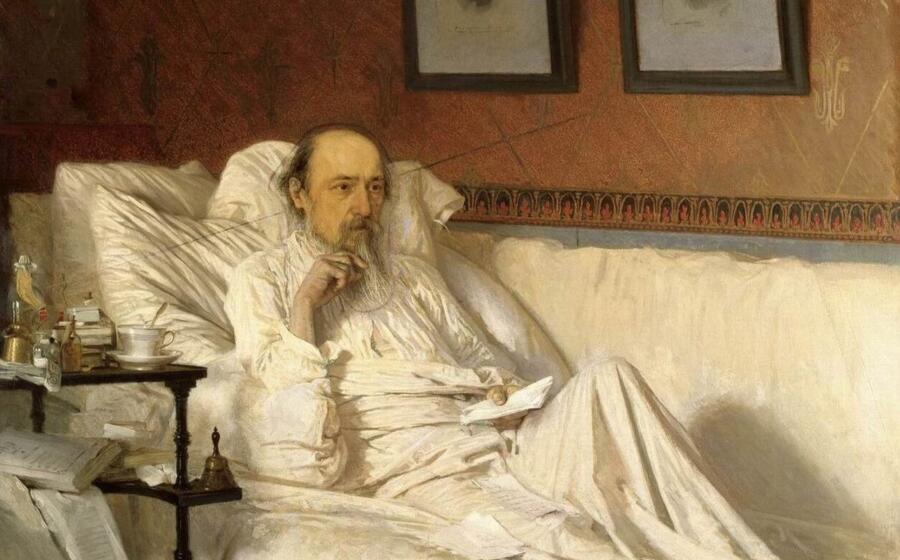 И. Н. Крамской, «Н. А. Некрасов» (фрагмент), 1879 г.