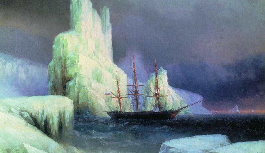 И. К. Айвазовский, «Ледяные горы в Антарктиде» (фрагмент), 1870 г.