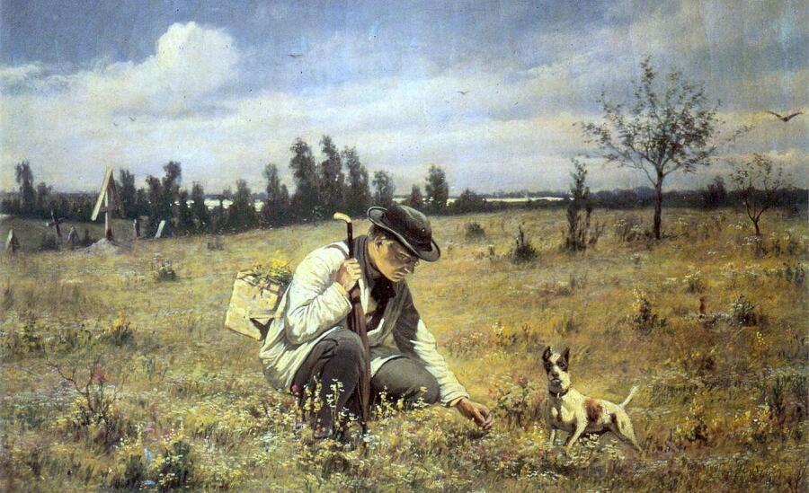 В. Г. Перов, «Ботаник» (фрагмент), 1874 г.