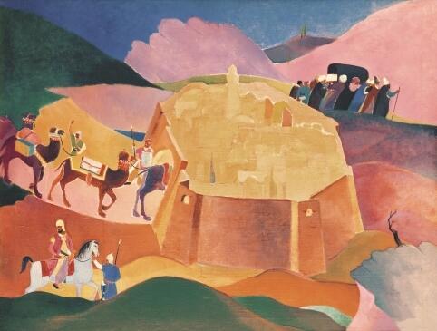 Газанфар Халыков,«Похороны Фирдоуси», 1934 г.