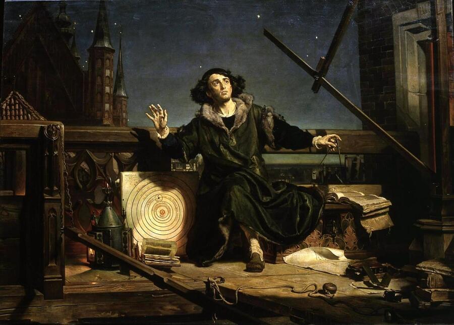Ян Матейко, «Коперник. Беседа с Богом», 1873 г.