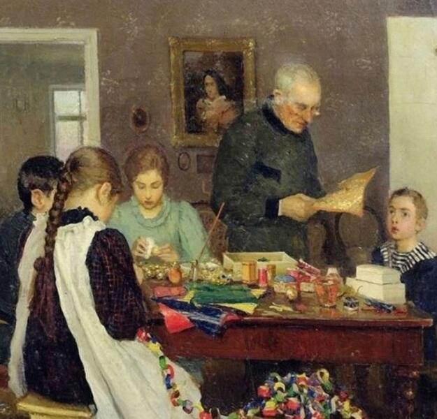 С. Досекин, «Подготовка к Рождеству», 1896 г.