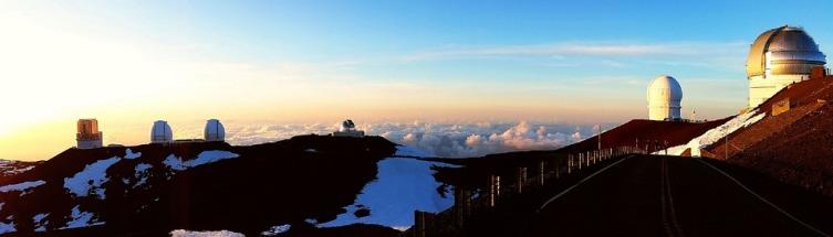 Система телескопов Pan-STARRS расположена на вершине вулкана Мауна-Кеа на острове Гавайи