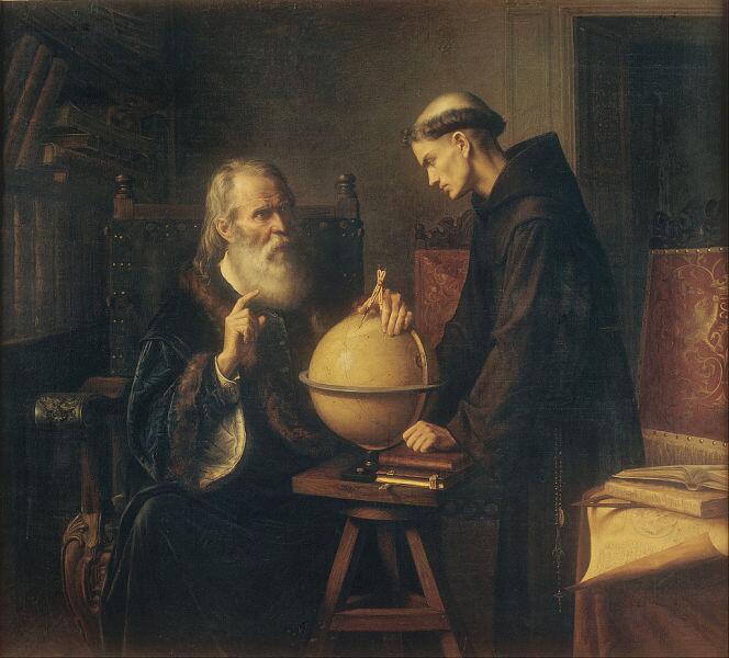 Феликс Парра, «Галилео демонстрирует новые астрономические теории в университете Падуи», 1873 г.