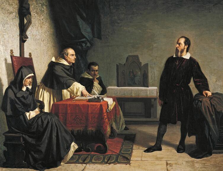 Кристиано Банти, «Галилей перед Инквизицией», 1857 г.