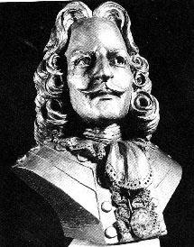 Антуан Ломе де Ламот де Кадильяк, бюст XIX в.