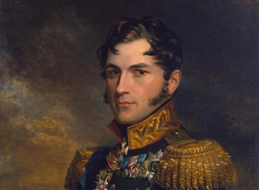 Джордж Доу, «Портрет Леопольда из Военной галереи Зимнего дворца» (фрагмент)