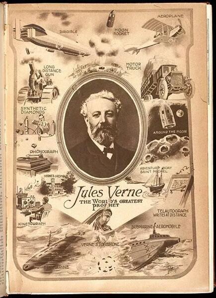 Жюль Верну приписывают предсказание многих современных машин и приборов