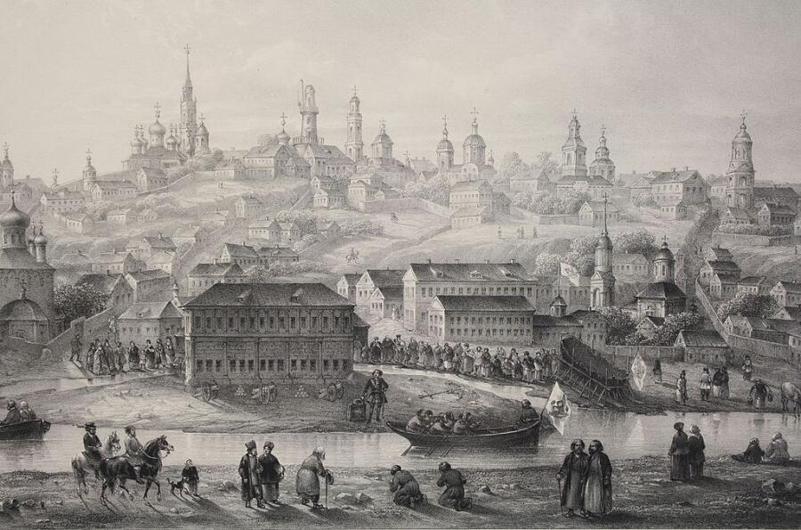 Гравюра Воронежа XVIII века