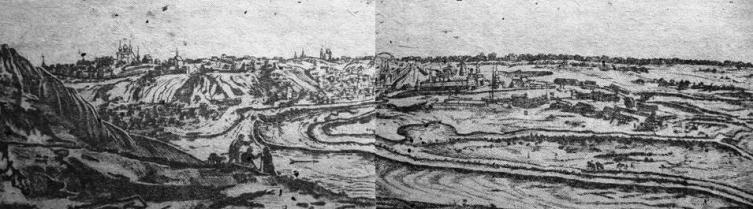 Воронеж 1703 года на гравюре К. де Бруина