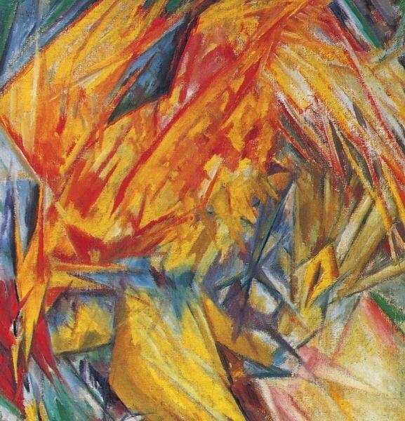 М. Ф. Ларионов, «Петух. Лучистый этюд», 1912 г.