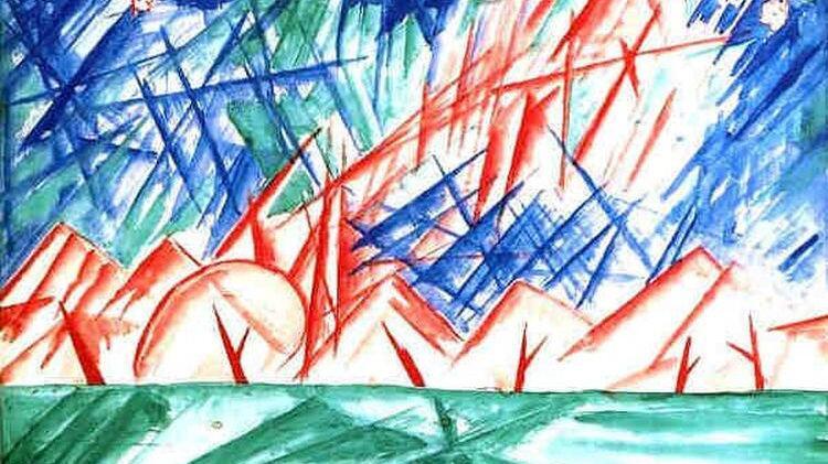 М. Ф. Ларионов, «Голубой лучизм», 1915 г.