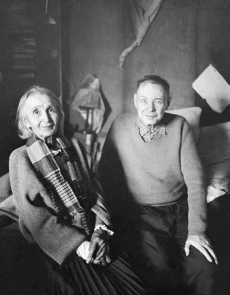 Наталья Гончарова и Михаил Ларионов. 1956 год