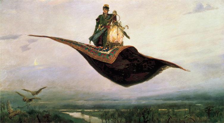 В. М. Васнецов, «Ковер-самолет», 1880 г.