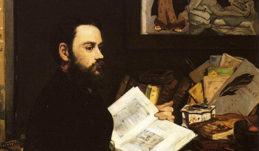 Эдвард Мане, «Портрет Эмиля Золя» (фрагмент), 1868 г.