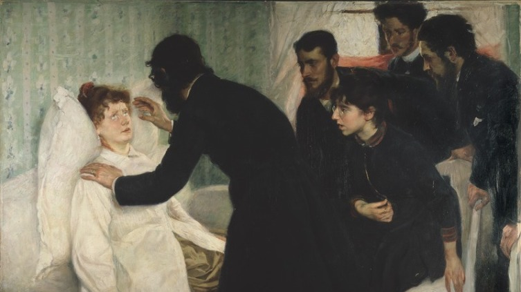 Ричард Берг, «Сеанс гипноза», 1887 г.