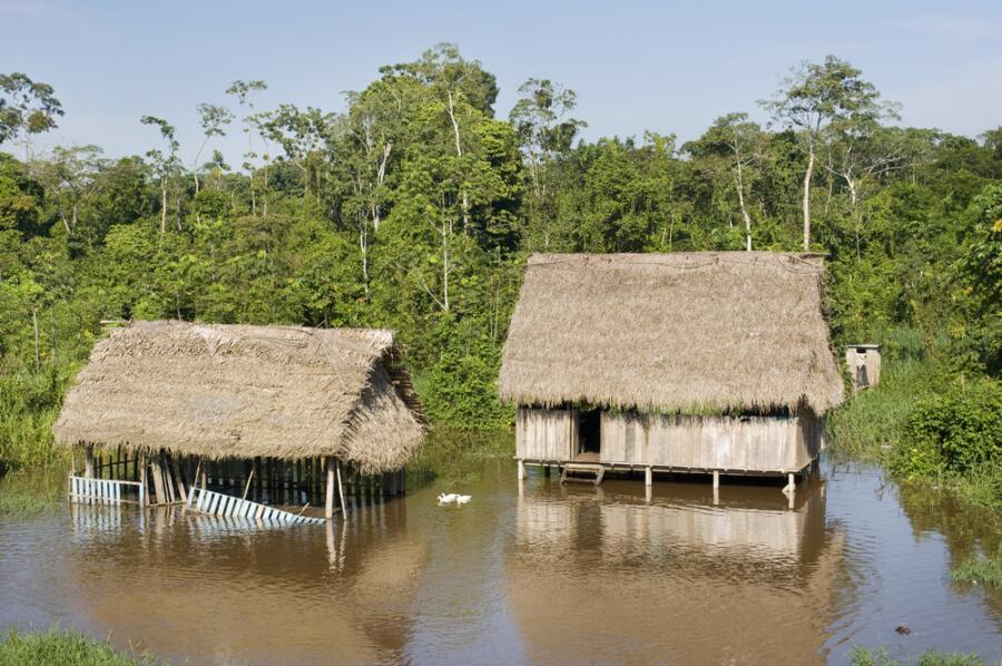 Поселение индейцев на Амазонке