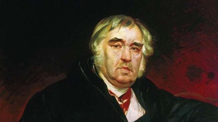 Карл Брюлов, «Портрет баснописца И. А. Крылова» (фрагмент), 1839 г.