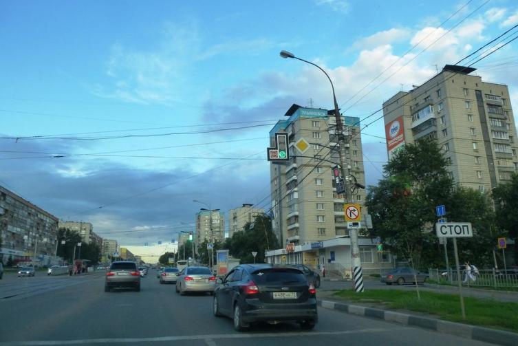 Одна из улиц Ульяновска
