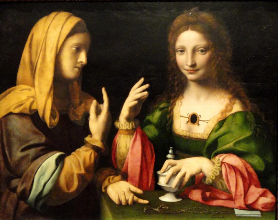 Бернардино Луини, «Скромность и тщеславие», 1520 г.