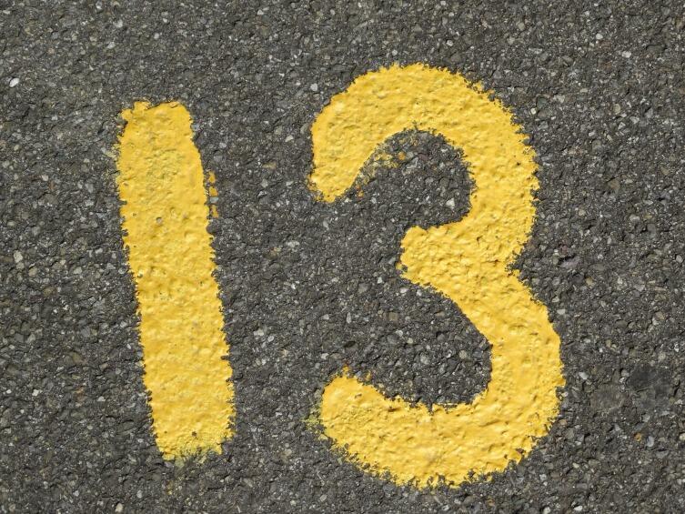 Число 13 для многих остается несчастливым