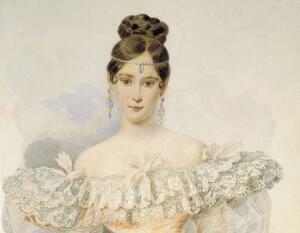 В. Гау. Портрет Наталии Николаевны Ланской 1844 г.