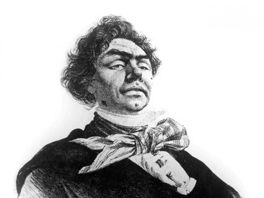 Вымышленный «портрет» Пруткова, созданный Л. М. Жемчужниковым, А. Е. Бейдеманом и Л. Ф. Лагорио