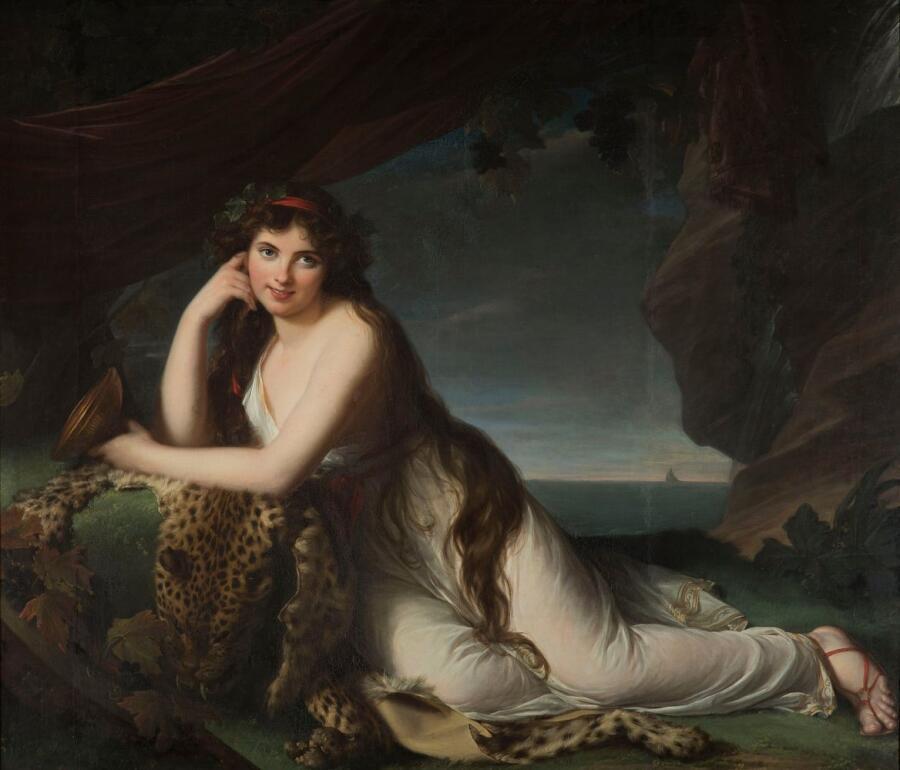 Элизабет Виже-Лебрен, «Эмма Гамильтон в образе вакханки», 1790 г.