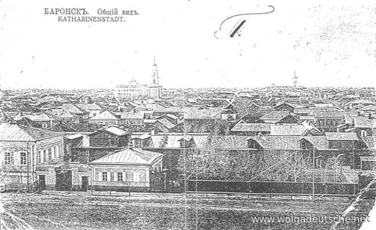 Баронск (Екатериненштадт), общий вид, фото до 1917 г.