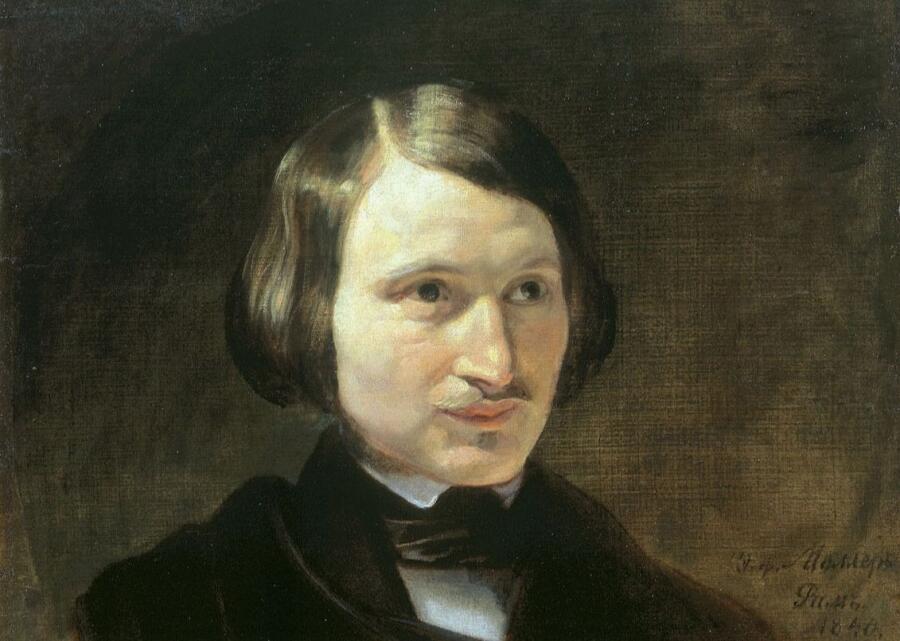 Моллер Федор, «Портрет Н. В. Гоголя» (фрагмент), 1840 г.