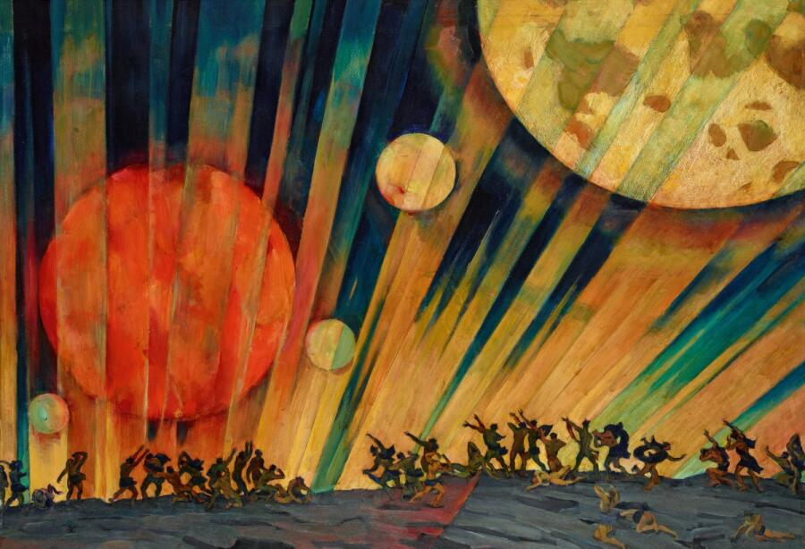 Константин Юон, «Новая планета», 1921 г.
