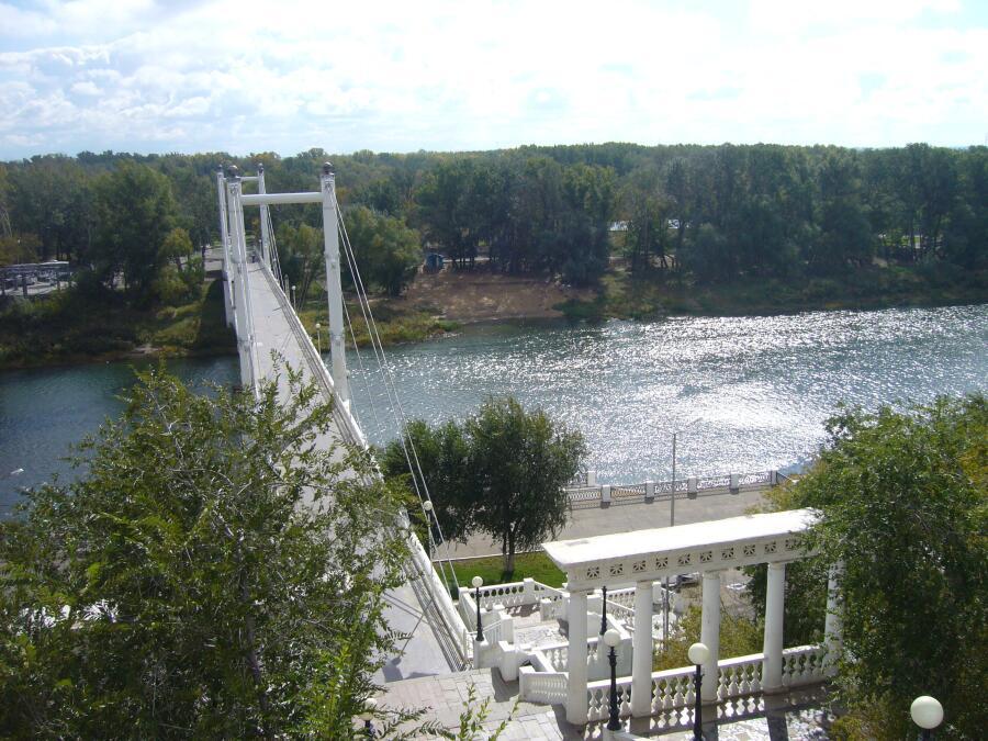 Набережная реки Урал в  Оренбурге