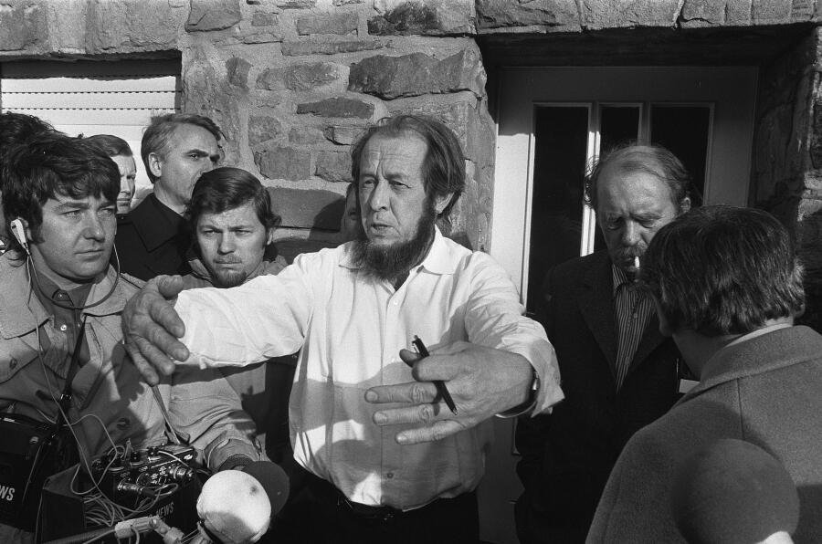 В доме Генриха Бёлля в Кёльне , 14. 02.1974 г.