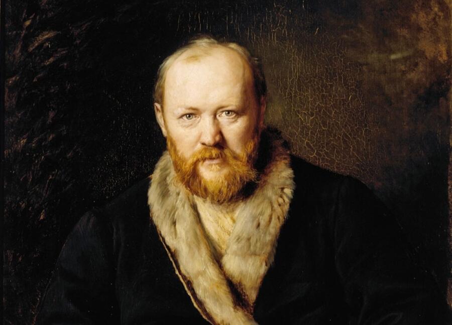 В. Г. Перов, «Портрет драматурга А. Н. Островского» (фрагмент), 1871 г.