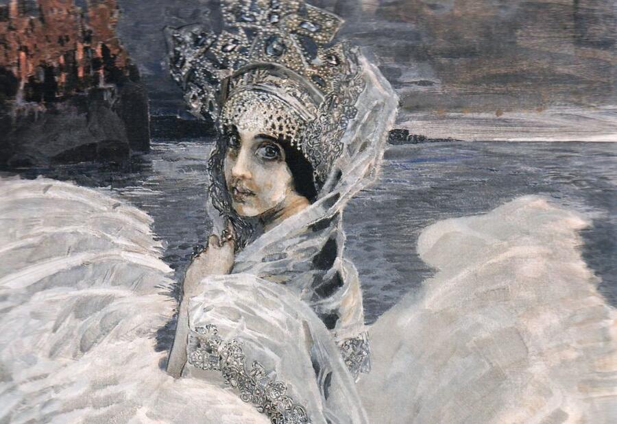 М. А. Врубель, «Царевна-Лебедь» (фрагмент), 1900 г.