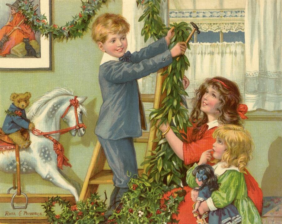 Роза Петрик, «Дети наряжают рождественскую елку»