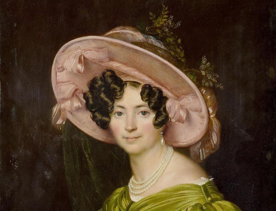 О. Кипренский, «Портрет Зинаиды Волконской» (фрагмент), 1830 г.