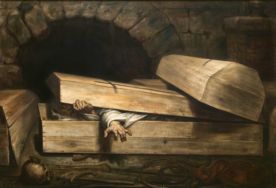 Антуан-Жозеф Вирц, «Преждевременное погребение», 1854 г.