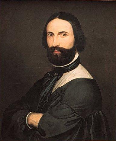 Антуан Жозеф Вирц, «Автопортрет», 1860г.