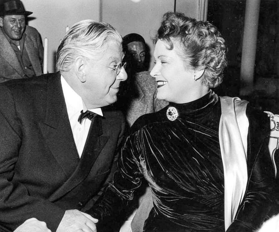 Ольга Чехова с театральным актёром Вальтером Янсеном, 1953 г.